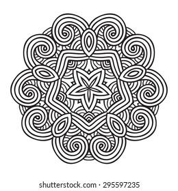 Mehndi, Indian Henna tattoo pattern or background