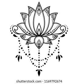 Henna Lotus Images Stock Photos Vectors Shutterstock