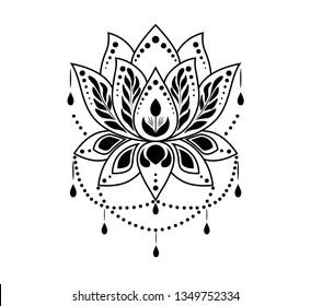 India Lotus Flower Stock Vectors Images Vector Art Shutterstock