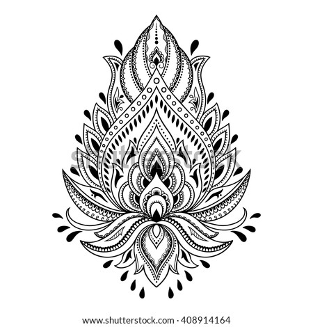 Mehndi lotus flower pattern henna drawing stock vector royalty free mehndi lotus flower pattern for henna drawing and tattoo decoration in ethnic oriental indian mightylinksfo