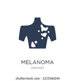Melanoma icon. Trendy flat vector Melanoma icon on white background from Diseases collection, vector illustration can be use for web and mobile, eps10
