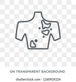 Melanoma icon. Trendy flat vector Melanoma icon on transparent background from Diseases   collection. High quality filled Melanoma symbol use for web and mobile