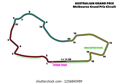 Australian F1 Grand Prix Stock Vectors, Images & Vector Art