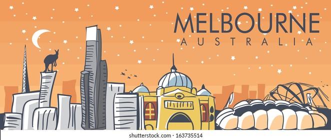 Melbourne illustration