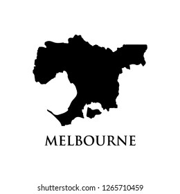Melbourne map vector icon