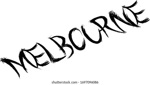 Melbourne tect sign illustration on white background