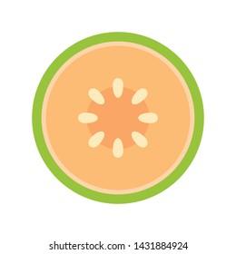 Melon vector. wallpaper. Melon logo. sign. symbol.
