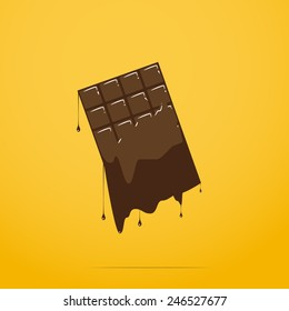 melted chocolate bar
