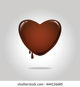 Melting chocolate heart.