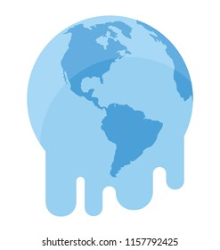 melting globe planet earth warming environment or climate change concept