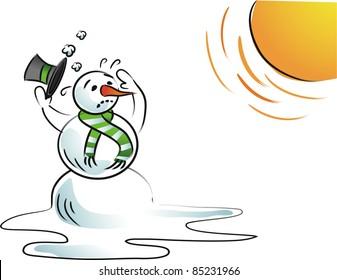 melting snowman images stock photos vectors shutterstock rh shutterstock com Melting Snowball Olaf Melting