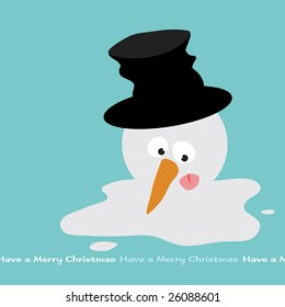 Melting Snowman Vector (removable text)
