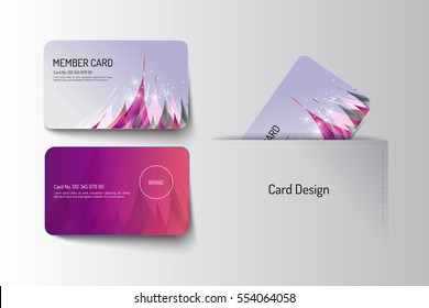 Member and business card template design. Vector illustration