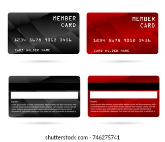 member card, business VIP card, design for privilege member,vector