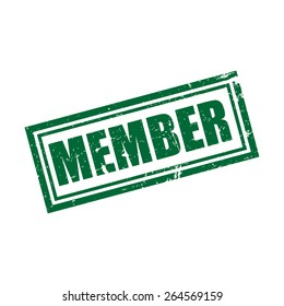 Member, grunge stamp, vector illustration