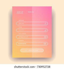Member login flat design. eps10.