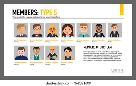 Imágenes, fotos de stock y vectores sobre Slide Template Team Page