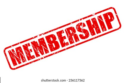 Membership red stamp text on white