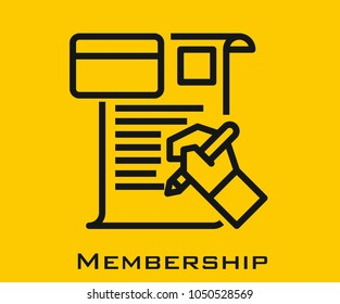 Membership vector icon