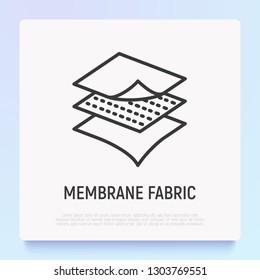 Membrane fabric thin line icon. Modern vector illustration.