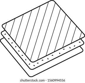 Membrane materials. Vector outline icon.