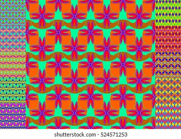 Memfis style abstract backdrop. Geometric seamless pattern. Repeating decoration print. Seamless primitive geometric background.