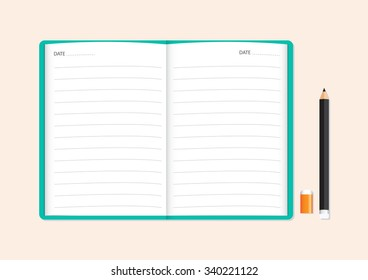 memo notbook vector