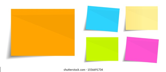 Memo (paper sticky note) in 5 colors
