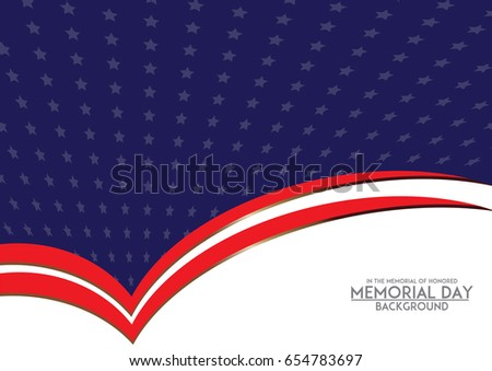 memorial day background template american flag stock vector royalty