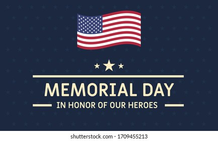 Memorial Day background vector illustration. Remember and honor concept