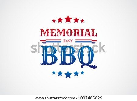 memorial day bbq barbeque sign invitation stock vector royalty free