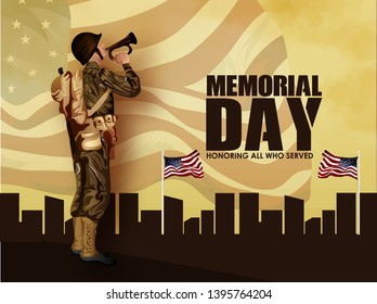 Memorial Day is a federal holiday in the United States for remembering and honoring persons who have died