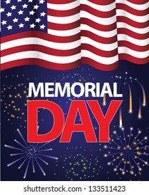 Memorial Day Flag Design. EPS 8 vector, grouped for easy editing. No open shapes or paths.