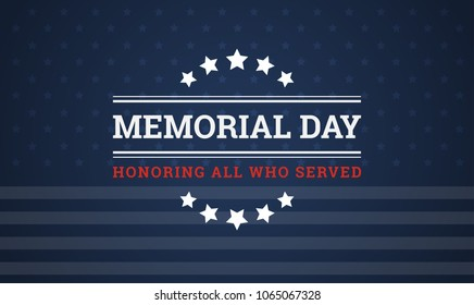 Memorial Day holiday vector background