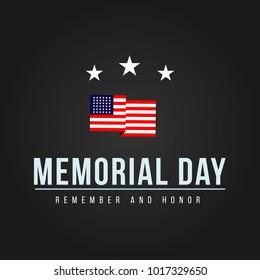Memorial Day Logo Vector Template Design