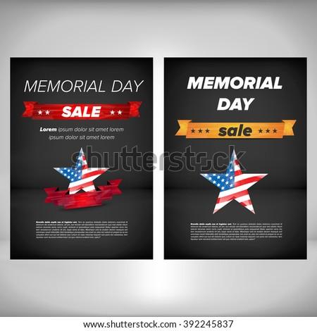 memorial day poster stock vector royalty free 392245837 shutterstock