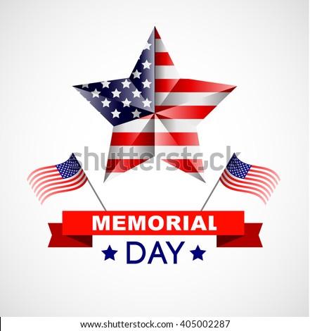 memorial day poster illustration patriotic united stock vector