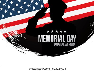 Memorial day. Remember and honor. Vector illustration