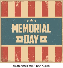 Memorial Day. Retro background