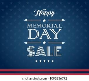 Memorial Day Sale American background vector