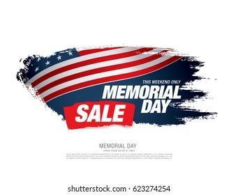 Memorial day sale banner