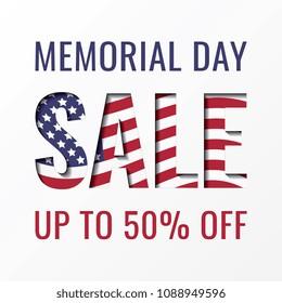 memorial day sale banner design template