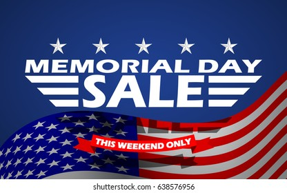 Memorial Day Sale banner template design.
