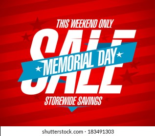 Memorial day sale design template.