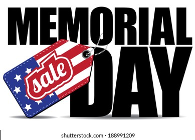 Memorial Day Sale icon EPS10 vector, grouped for easy editing. No open shapes or paths.
