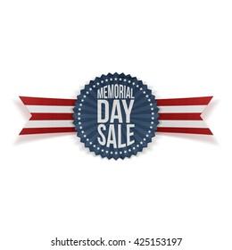 Memorial Day Sale patriotic Badge and Ribbon