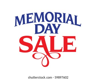 Memorial Day Sale Vector Lettering
