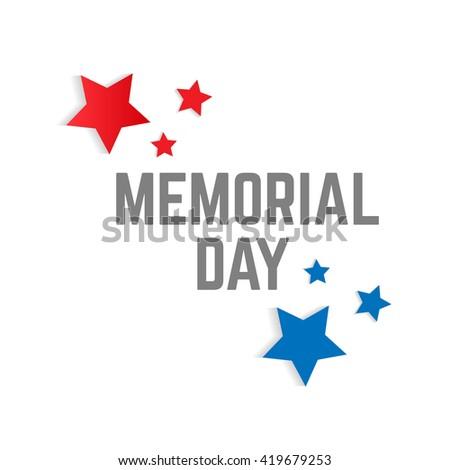 Memorial Day Stars Text Vector Stock Vector Royalty Free 419679253