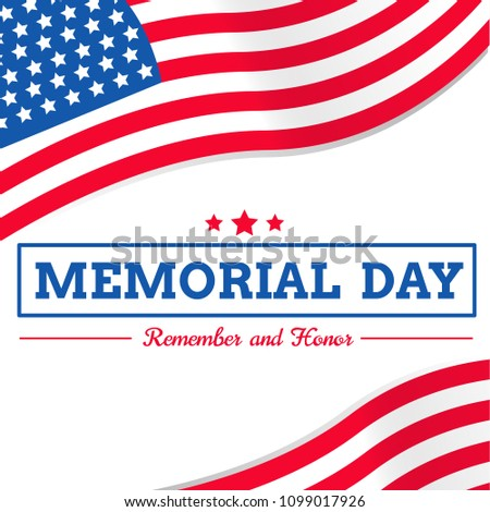 memorial day usa flag vector on stock vector royalty free