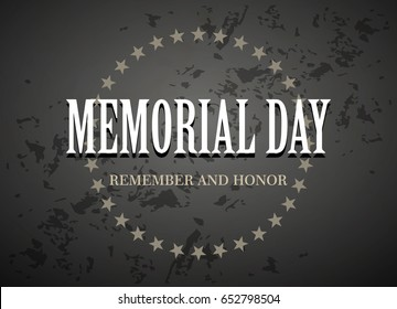 Memorial Day vector background